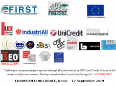 First Cisl, conferenza europea a Roma su welfare integrativo