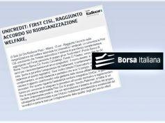 UniCredit, welfare riorganizzato, First Cisl, accordo per trattamenti adeguati