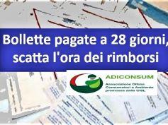 Bollette a 28 giorni, Adiconsum lancia servizio per chiedere i rimborsi