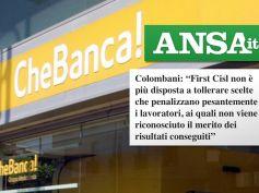 Ansa, CheBanca! taglia il premio, First Cisl, decisione del tutto inaccettabile
