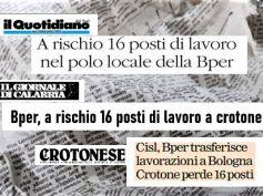 Bper punta a tagli in Calabria, Cisl e First Cisl a difesa lavoro e territorio