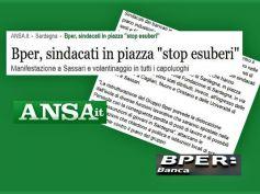 Ansa, in Sardegna il piano Bper porta i lavoratori in piazza