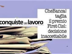 Conquiste del Lavoro, per First Cisl inaccettabile taglio premi in CheBanca!
