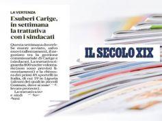 Il Secolo XIX su Carige, pronta la trattativa sindacati azienda su occupazione