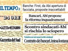 I giornali su Ccnl banche, confronto in salita, intesa lontana