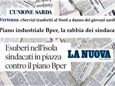 Piano Bper in Sardegna, per i sindacati è inaccettabile, impoverisce territorio