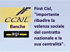 Agi su rinnovo Ccnl banche, First Cisl, positiva apertura Abi, ma ora i fatti
