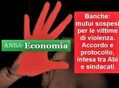 Ansa su giornata violenza contro donne, firmato accordo Abi sindacati