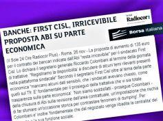 Borsa Italiana sul Ccnl, First Cisl, irricevibile proposta Abi parte economica