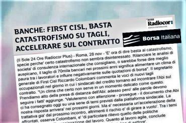 Borsa Italiana, First Cisl, basta catastrofismo su tagli, accelerare contratto