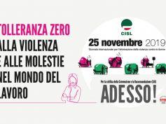 Giornata internazionale contro violenza donne, Cisl, tolleranza zero a violenza