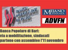 Banca Popolare di Bari, sindacati, situazione grave, mobilitazione necessaria