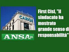 Ansa su Carige, First Cisl, accordo guarda al futuro di banca e lavoratori