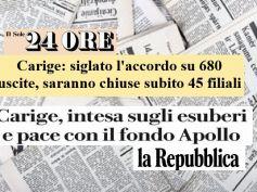 Il Sole 24 ORE e la Repubblica su Carige, First Cisl, assicurato futuro lavoro