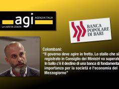 Agi su Popolare Bari, Colombani, governo agisca, fondamentale per Mezzogiorno