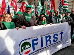Manovra, First Cisl oggi in piazza a Roma con Cgil Cisl Uil