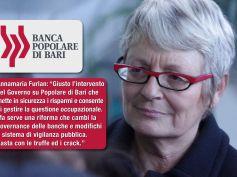 Popolare Bari, tweet di Annamaria Furlan, riformare vigilanza pubblica banche