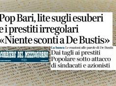 Banca Popolare di Bari, First Cisl contro esuberi e per soluzione crisi