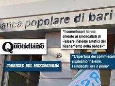 "Popolare Bari, i commissari ai sindacati, ""risaniamo insieme"""