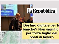 Studio First Cisl, la Repubblica, digitale banche non equivale a taglio posti