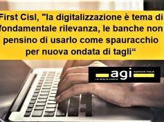 Studio First Cisl su Agi, digitalizzazione banche è tema contrattuale