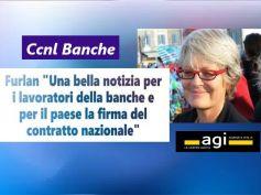 Rinnovo Ccnl banche, Furlan, bella notizia per lavoratori e paese