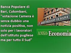 Ansa, PopBari, sì della Camera a salvataggio, Colombani, è buona notizia