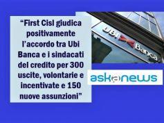 Askanews, Ubi Banca, First Cisl, ora più forte il ricambio generazionale