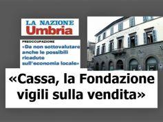 La Nazione, Cassa di Risparmio di Orvieto, First Cisl, vendita sia per sviluppo