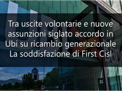 L'interesse della rete per l'accordo in Ubi e la soddisfazione di First Cisl