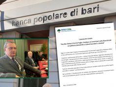 PopBari, Berloco, chiediamo ai commissari netta discontinuità con passato