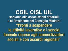 Coronavirus, Cgil Cisl Uil, necessaria riduzione modulata attività lavorativa