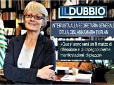 Il Dubbio intervista Annamaria Furlan, sarà un 8 marzo di impegno e riflessione