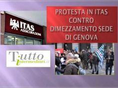 Itas Mutua, no a dimezzamento sede Genova, dipendenti in piazza contro il piano