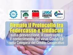 Coronavirus, Protocollo Federcasse sindacati per la salute di tutte le persone
