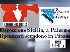 Riscossione Sicilia, crisi annosa, dipendenti in piazza per soluzione positiva