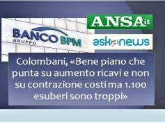 Piano industriale Banco Bpm, su agenzie le considerazioni di Riccardo Colombani