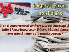Popolare di Bari, piano non piace ai sindacati, inaccettabili tagli e chiusure