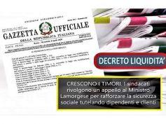 DL Liquidità, sindacati banche preoccupati per i dipendenti,Viminale sia vigile