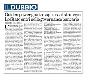 L'analisi di Riccardo Colombani su Il Dubbio dell'8 aprile 2020