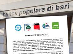 Popolare Bari, sindacati, è giunto il momento di rimettere al centro la persona