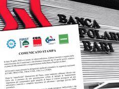 Popolare di Bari, i sindacati, no ai tagli, serve discontinuità