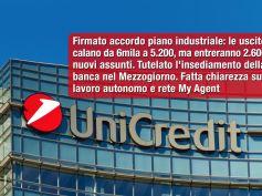 UniCredit, First Cisl, ridotti gli esuberi, bene su assunzioni e Sud