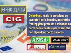 DL, cig e prestiti, Colombani, i ritardi non si scarichino sui dipendenti
