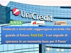 UniCredit, accordo trovato, First Cisl, intesa è segnale di speranza per Paese