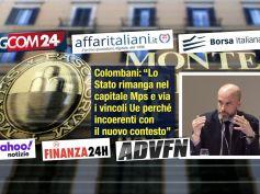 Colombani on line ribadisce, lo Stato rimanga nel capitale Mps senza vincoli Ue