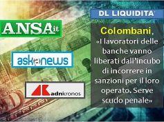 DL Liquidità, Colombani sulle agenzie, per i bancari serve scudo penale