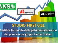 Studio First Cisl big 5, Colombani, crescita banche sia per rilancio del Paese