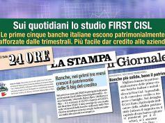 Studio First Cisl big five, dai giornali, tengono ricavi si contraggono i costi