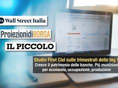 Studio First Cisl big 5, nuove reazioni, da banche più solide maggior credito